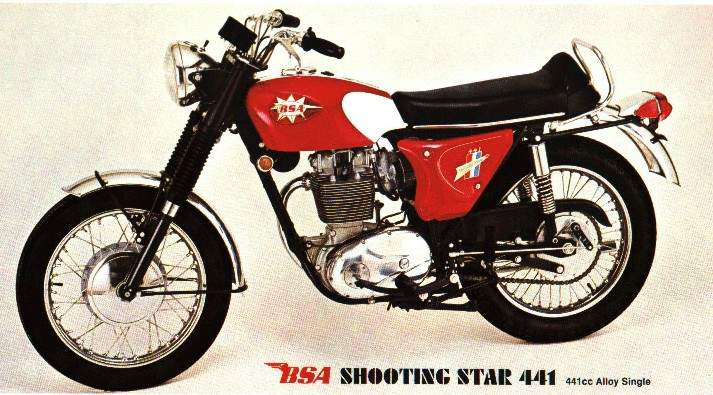 Мотоцикл BSA hooting Star 450 1967