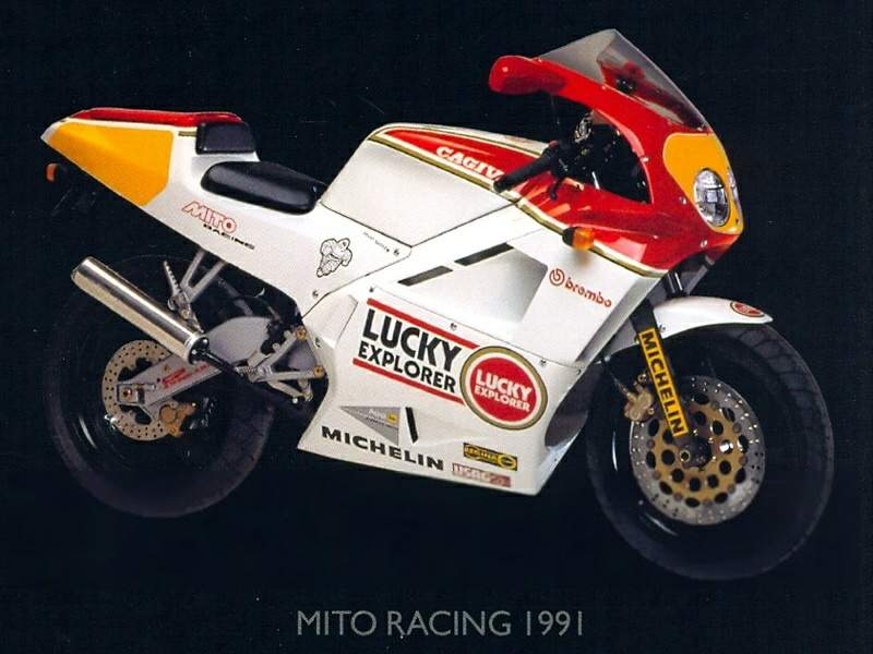 Мотоцикл Cagiva Mito I Racing Lucky Explorer (or Sport Production) 1991