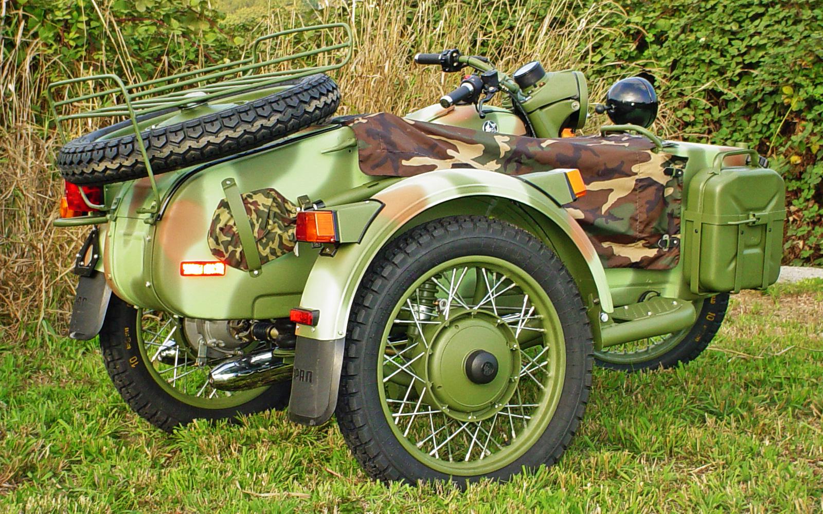 Мотоцикл Урал военный с консервации #3