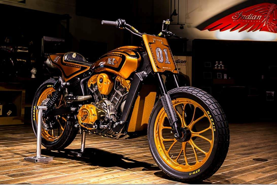 Мотоцикл Indian Scout Midwest Urban Dirt Tracker Project Scout contest 2015