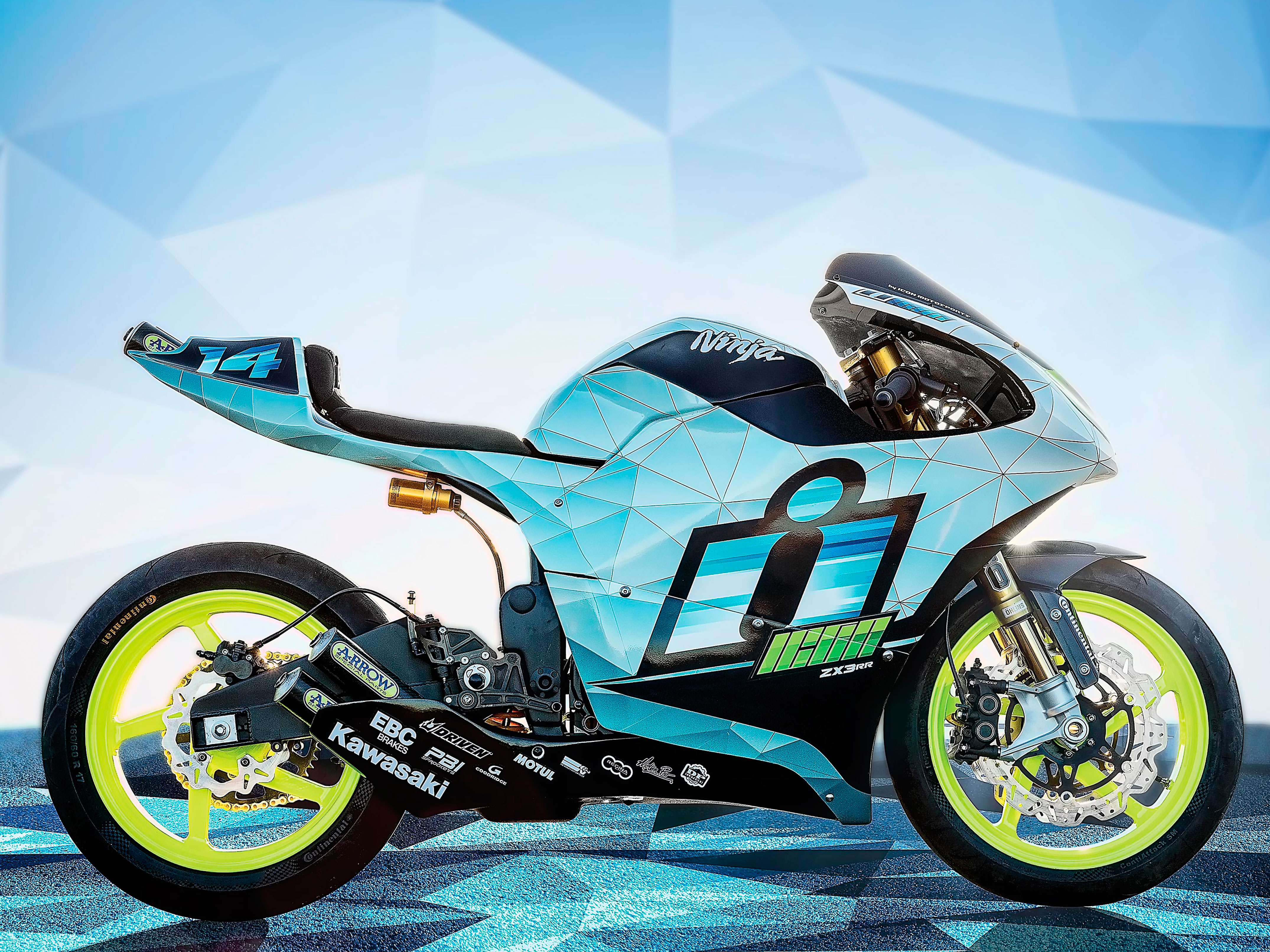 Мотоцикл Kawasaki ZX3-RR Concept by ICON 2014