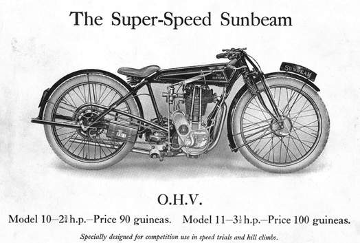 Мотоцикл Sunbeam Model 10 Sprint 1931