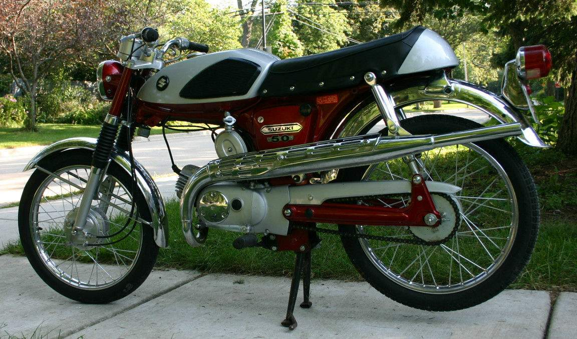 Мотоцикл Suzuki AS 50 Maverick 1968