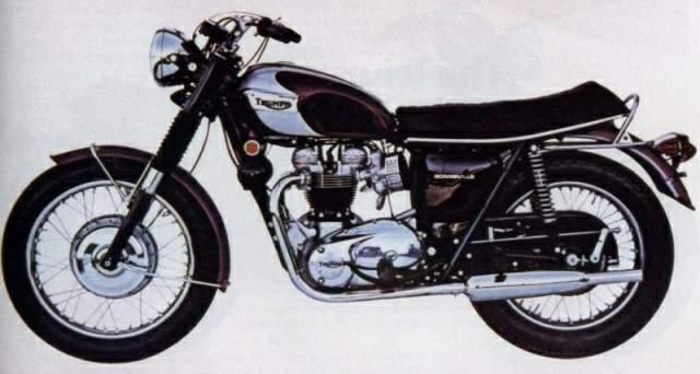 Мотоцикл Triumph Bonneville 650 T120r 1970 Фото