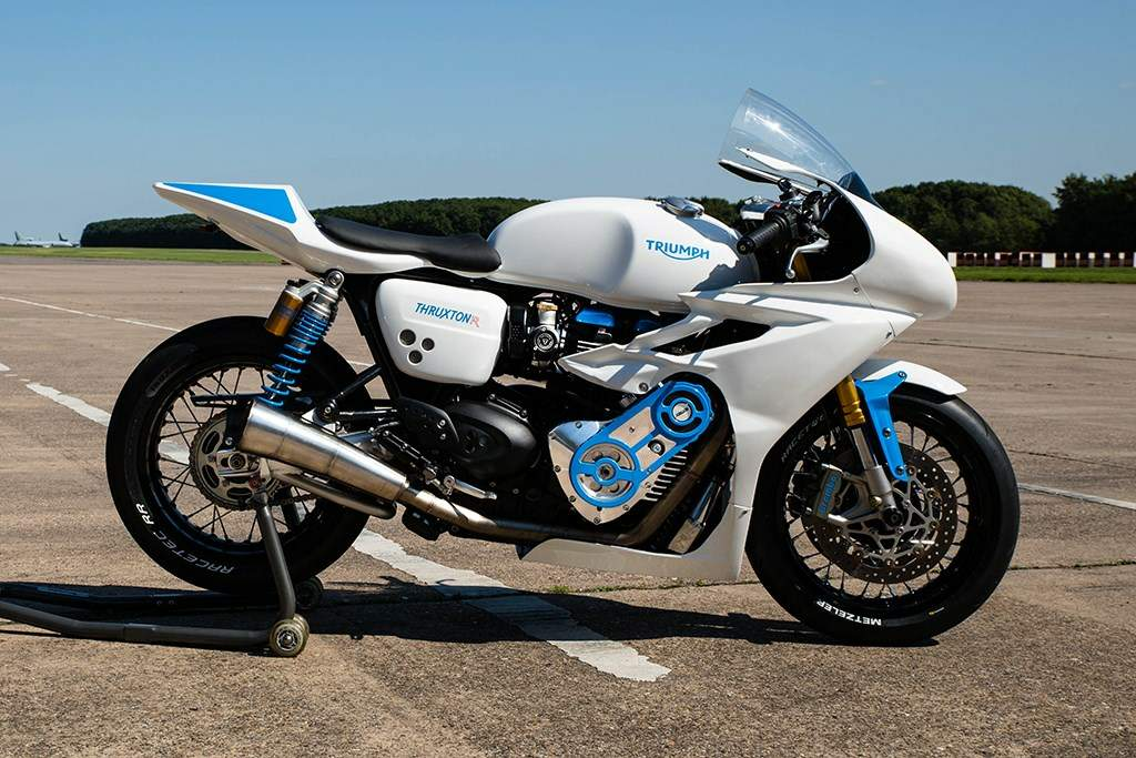 Мотоцикл Triumph Thruxton 1200R Supercharged The White Bike 2016