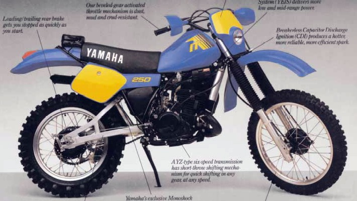 Мотоцикл Yamaha IT 250 1982
